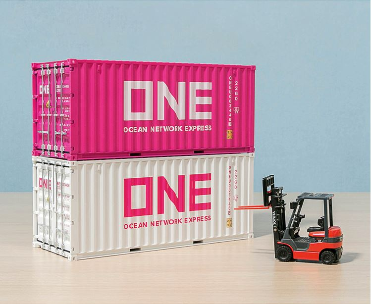 Collectible Toy Model Gift 1:20 Scale ONE Ocean Network Express 20 GP Truck,Ship Container Model For Business Gift,Display