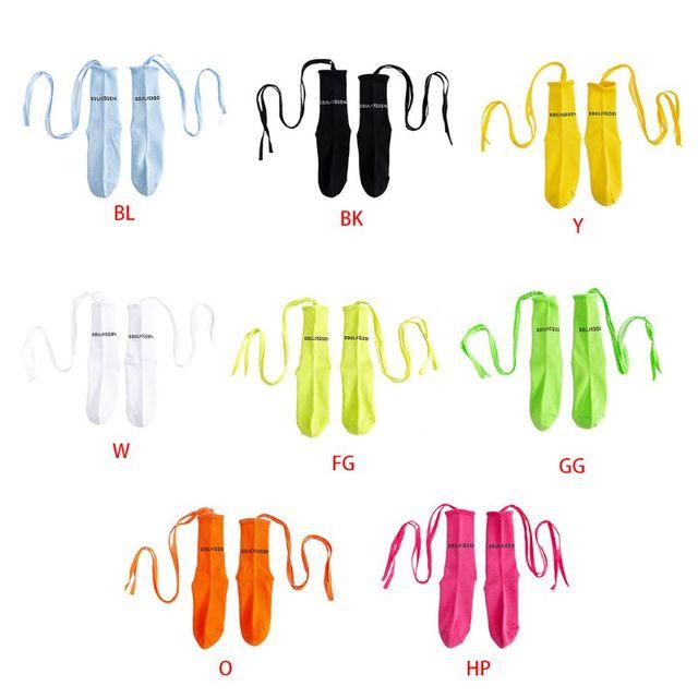 Women's Fluorescent Cross Straps Socks