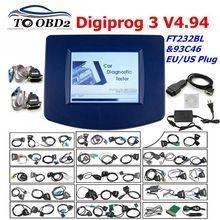 Digiprog 3 V4.94 kit complet de programmeur dodomètre et correcteur du kilométrage pour de nombreuses voitures, avec prise EU/US