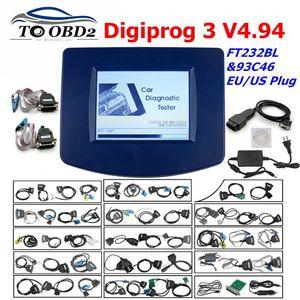 Image 1 - Digiprog3 Full set Digiprog 3 V4.94 Odometer programmer DigiprogIII Mileage Correct Tool for Many Cars With EU/US Plug