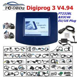 Digiprog3 Volledige set Digiprog 3 V4.94 Kilometerstand programmeur DigiprogIII Kilometerstand Juiste Gereedschap voor Veel Auto 'S Met EU/US Plug
