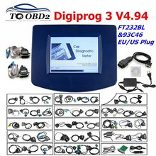 Digiprog3 tam set Digiprog 3 V4.94 kilometre sayacı programcı itibaren kilometre doğru aracı ile birçok otomobil için ab/abd Plug