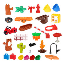 Large Particles DIY Blocks Toy Children Creative Building Blocks Compatible with Legoyh ABS Plastic Education Toy fun children s building blocks toy compatible with legoes large aircraft carrier assembly model children s building blocks toys