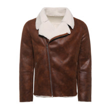 цена на Faux Suede Motorcycle Jacket Men Winter 2019 Warm Fashion Brown Leather Jackets Coats Man Fleece Casual Basic Coat Male Clothes