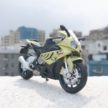 Maisto NEW 1:18 BMW S 1000 RR Alloy Diecast Motorcycle Model Workable Shork-Absorber Toy For Children Gifts Collection