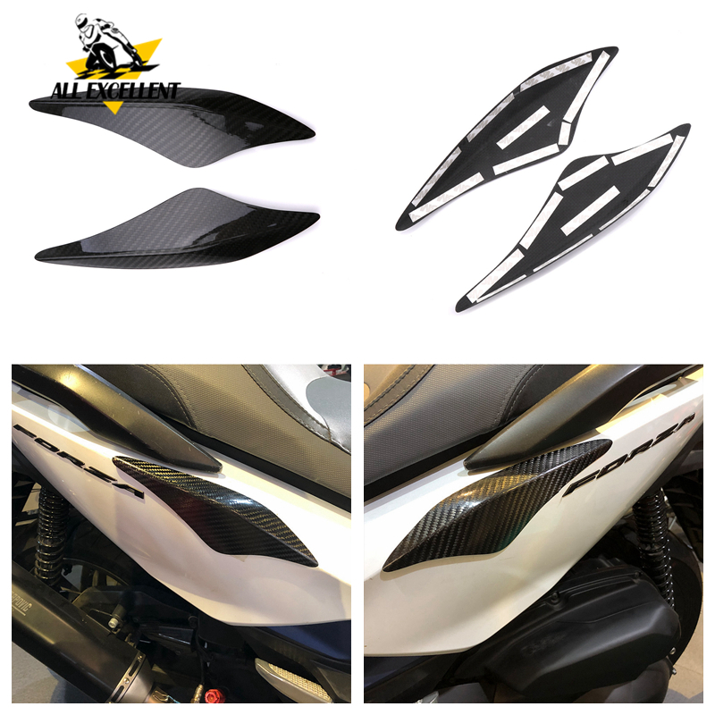 Autocollant décalcomanies pour Honda forza300 2018 2019 forza-300 nouveau fibre de carbone corps coquille anti-rayures décoratif patch