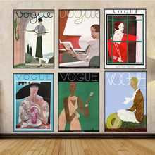 Wall Art Pictures Posters prints Canvas Painting Vintage prints Vogue poster Retro Posters For Living Room Modern wall art decor