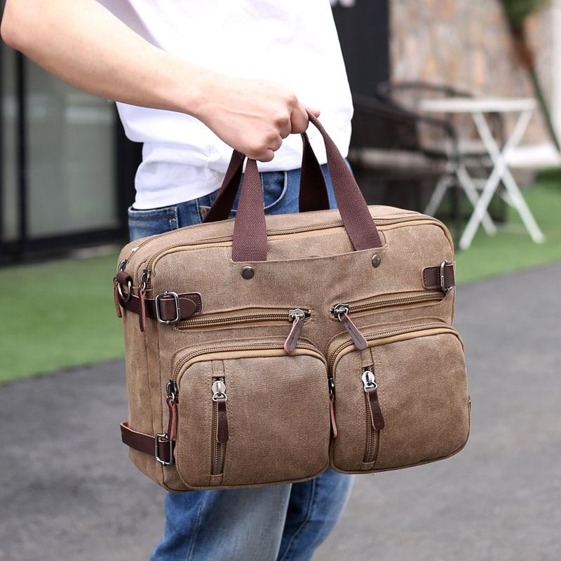 Men Canvas Briefcase Business Laptop Handbag Large Messenger Shoulder Bag Big Casual Male Tote Back Bags Men Canvas Briefcase Business Laptop Handbag Large Messenger Shoulder Bag Big Casual Male Tote Back Bags Travel Suitcase XA162ZC