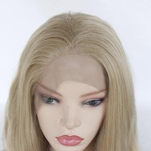 Image 3 - Freeshipping  African Americans Black Women Long Body Wavy Cheap Synthetic Lace Front Wig with Combs &Straps Free Part