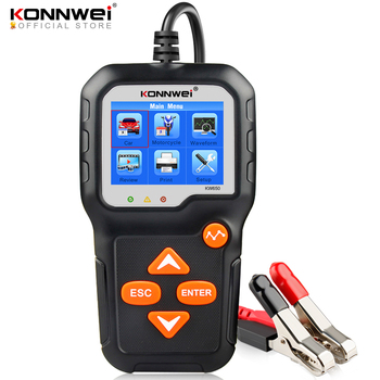 KONNWEI KW650 Car Motorcycle BatteryTester 12V 6V  Battery System Analyzer 2000CCA Charging Cranking Test Tools for the Car
