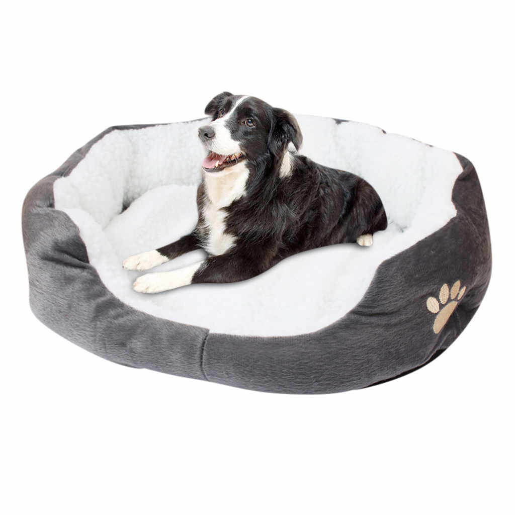 Pet Dog Puppy Cat Fleece Warm Bed House Plush Cozy Nest Mat Pad Puppy Dog Sofa Cushion House Sleeping Nest For Winter 19Dec24