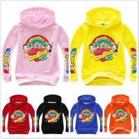 Spring Baby Boys Long Sleeve T-Shirts Kids Clothes Cartoon Me Contro Te Print Hoodies Girl Costume Children Sweatshirts Top Tees