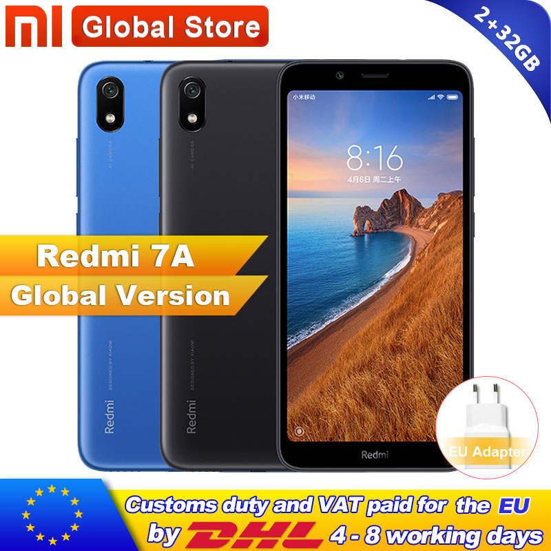 """Global Version Xiaomi Redmi 7A 7 A 2GB 32GB ROM Snapdargon 439 Octa core Mobile Phone 5.45"""" 13MP Camera 4000mAh Battery-in Cellphones from Cellphones & Telecommunications    1"""