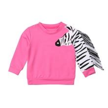 Pudcoco/детская одежда для девочек; Одежда для младенцев; одежда с кисточками для маленьких девочек; топы с 3D принтом зебры; футболки; свитера; детская одежда; От 1 до 6 лет