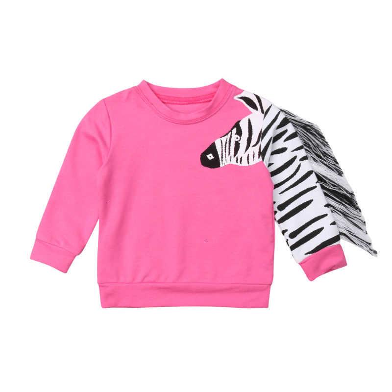 เด็ก Pudcoco สาวผ้าทารกผ้า Tassels เด็กวัยหัดเดินเด็กทารก 3D ZEBRA เสื้อยืดเสื้อกันหนาวเสื้อผ้าเด็ก 1-6 ปี
