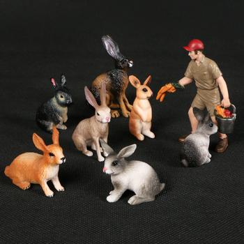 Modele zwierzęce imitacja królika małe zając zwierzątko figurka zwierzątko las dzika dekoracja z motywem zwierząt dla dzieci tanie i dobre opinie criswisd Unisex Come not with box as pictures Remastered Version Wyroby gotowe HS-LP127 CHINA Produkty na stanie 1 48 Animals