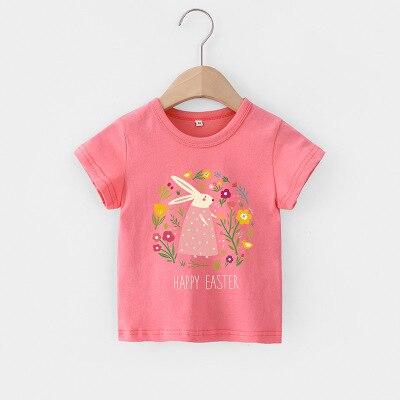 VIDMID Baby girls t-shirt Summer Clothes Casual Cartoon cotton tops tees kids Girls Clothing Short Sleeve t-shirt 4018 06 9