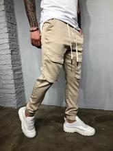 Мужские Новые Модные фирменные облегающие гимнастические брюки