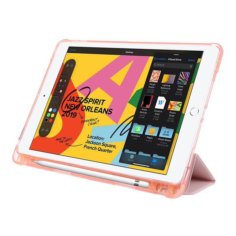 Generation 10 7th Case PU Leather Cover Stand 2 Protective iPad Smart inch Flip Cover For