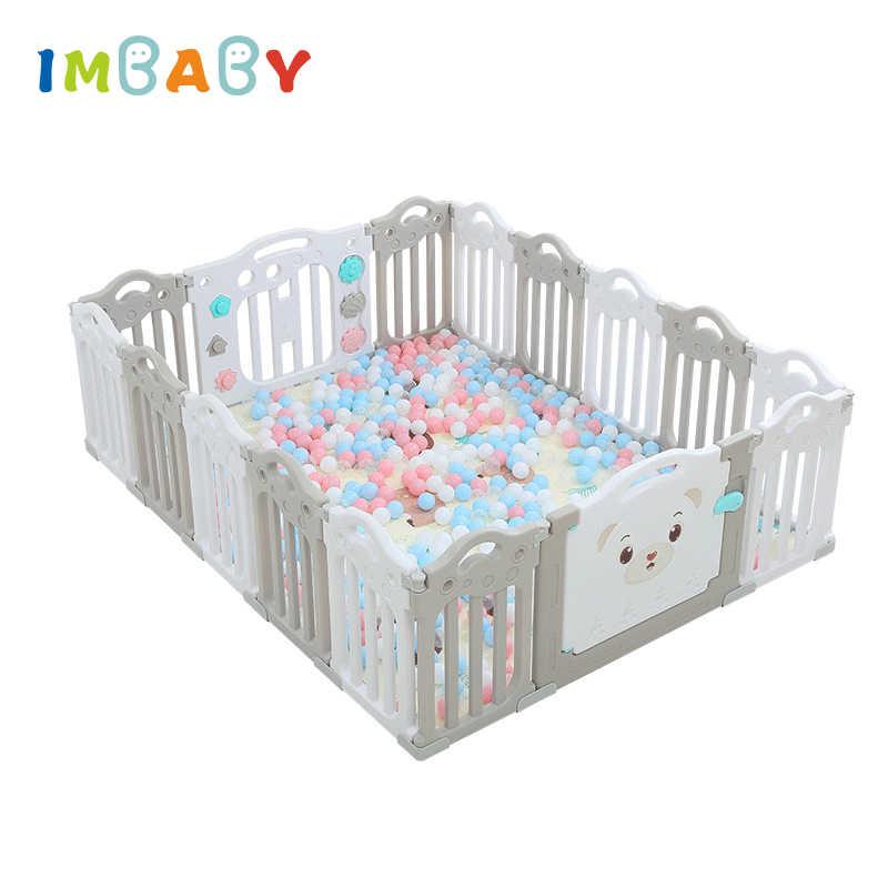 IMBABY אכיל PP תינוק גדר מקורה מגרש משחקים פרק ילדים בטיחות מעקה בטיחות ילדי תינוקות לול משחק זחילה גידור לשחק חצר