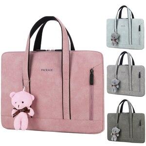 Laptop Bag Case women Briefcase Handbags Zipper Computer Sleeve Case For 13.3 14 15 15.6 inch Laptop PC Tablet
