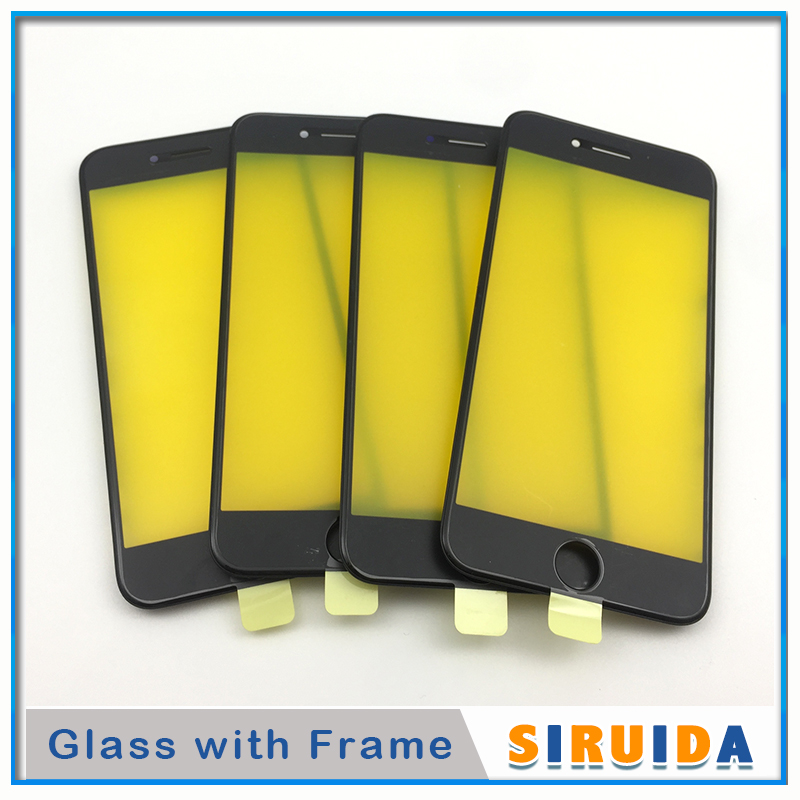 10pcs AAA For iPhone 6 6P 6s 7 8 Plus 8Plus 5S 5 LCD Touch Screen Digitizer Outer Glass Lens With Frame Replacement PartsPhone Screen Protectors   -