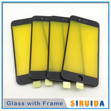 10pcs AAA For iPhone 6 6P 6s 7 8 Plus 8Plus 5S 5 LCD Touch Screen Digitizer Outer Glass Lens With Frame Replacement Parts