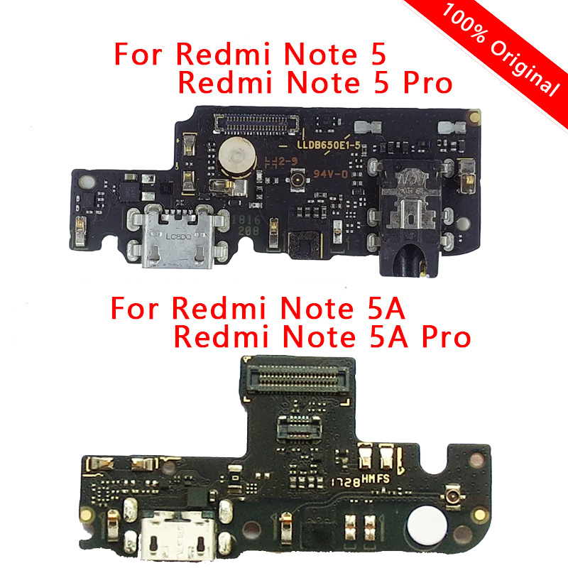 Original Charging Port For Xiaomi Redmi Note 5A Prime PCB Dock Flex Connector USB Charge Board For Redmi Note 5 Pro Spare Parts