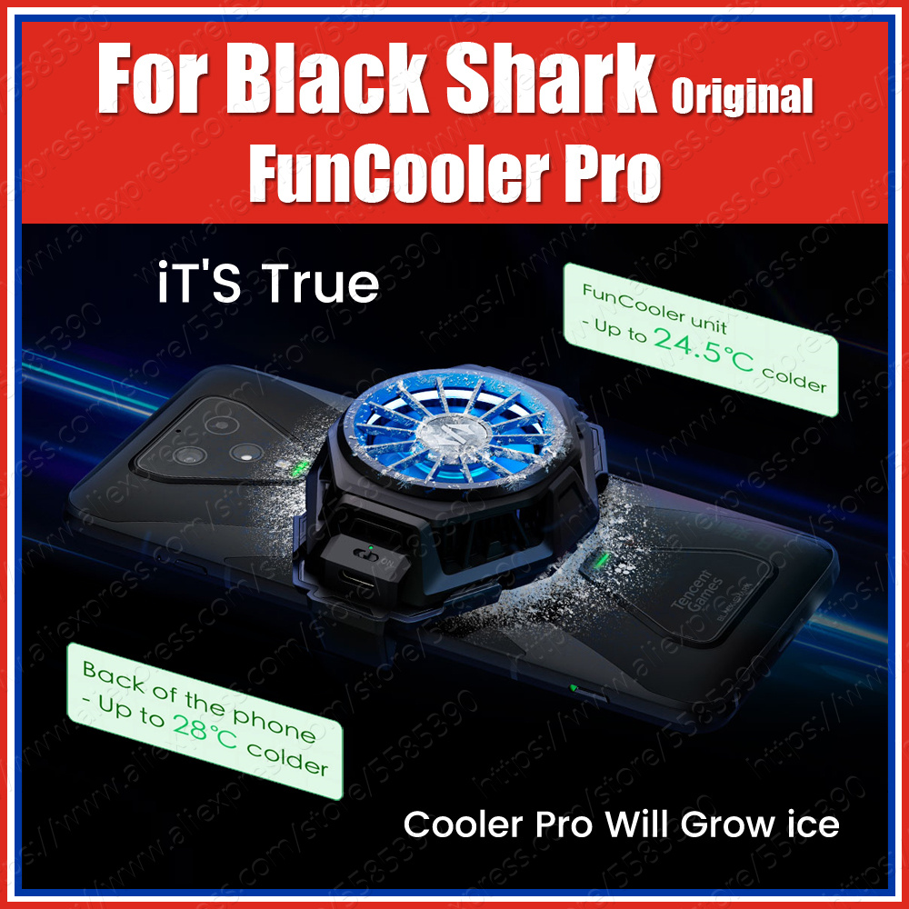 Stock BR20 Original Xiaomi Black Shark 3 Pro 2 Pro Fun Cooler Liquid Cooling Fan Mi 10 Pro ROG Phone 2 Iqoo Neo Pro 3 Red Magic