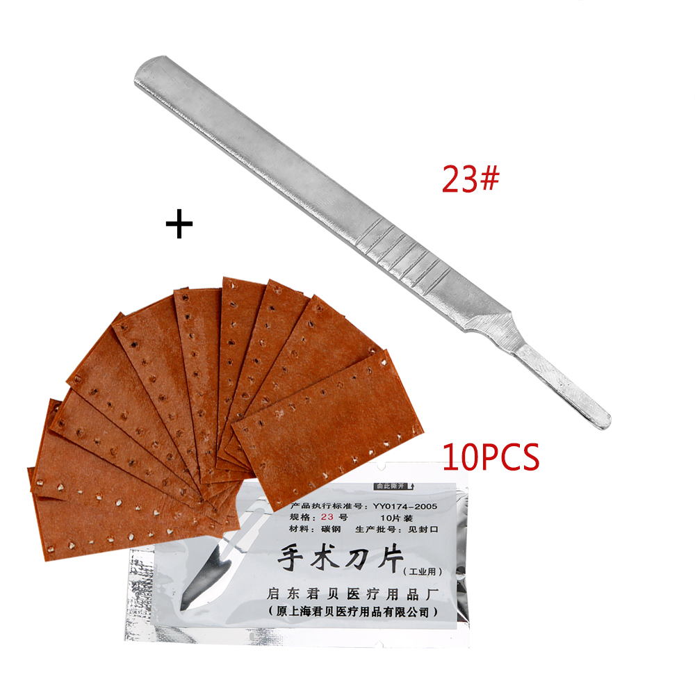 NICEYARD For PCB Circuit Board With 1 Pieces Handle Stainless Steel Carving Knife 23# 11#  10 Pieces Scalpel Surgical Blades