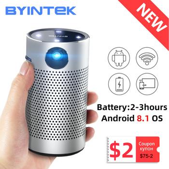 BYINTEK P7 kieszonkowy przenośny Pico inteligentny Android Wifi 1080P 4K TV laserowy Mini LED projektor kina domowego telefon DLP do kina 3D tanie i dobre opinie Auto Korekty Instrukcja Korekta CN (pochodzenie) 16 10 Brak 250 ANSI lumens 854x480 dpi 250ANSI 30inch-150inch 2000 01 00