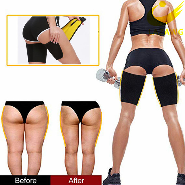 LAZAWG Leg Belt Sweat Thigh Trimmer Sweat Band Leg Slimmer Weight Loss Neoprene Gym Workout Corset Thigh Slimmer Tone Legs Strap 4