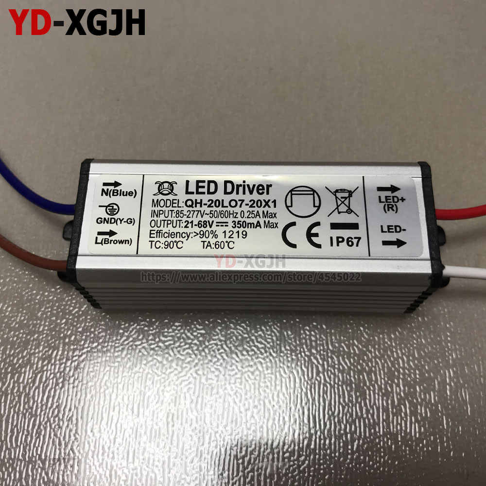 IP67 Driver LED Tahan Air 50-60Hz 0.25A1W3W5W10W20W30W36W50W LED Power Supply AC85-277V Transformator Pencahayaan untuk LED Power