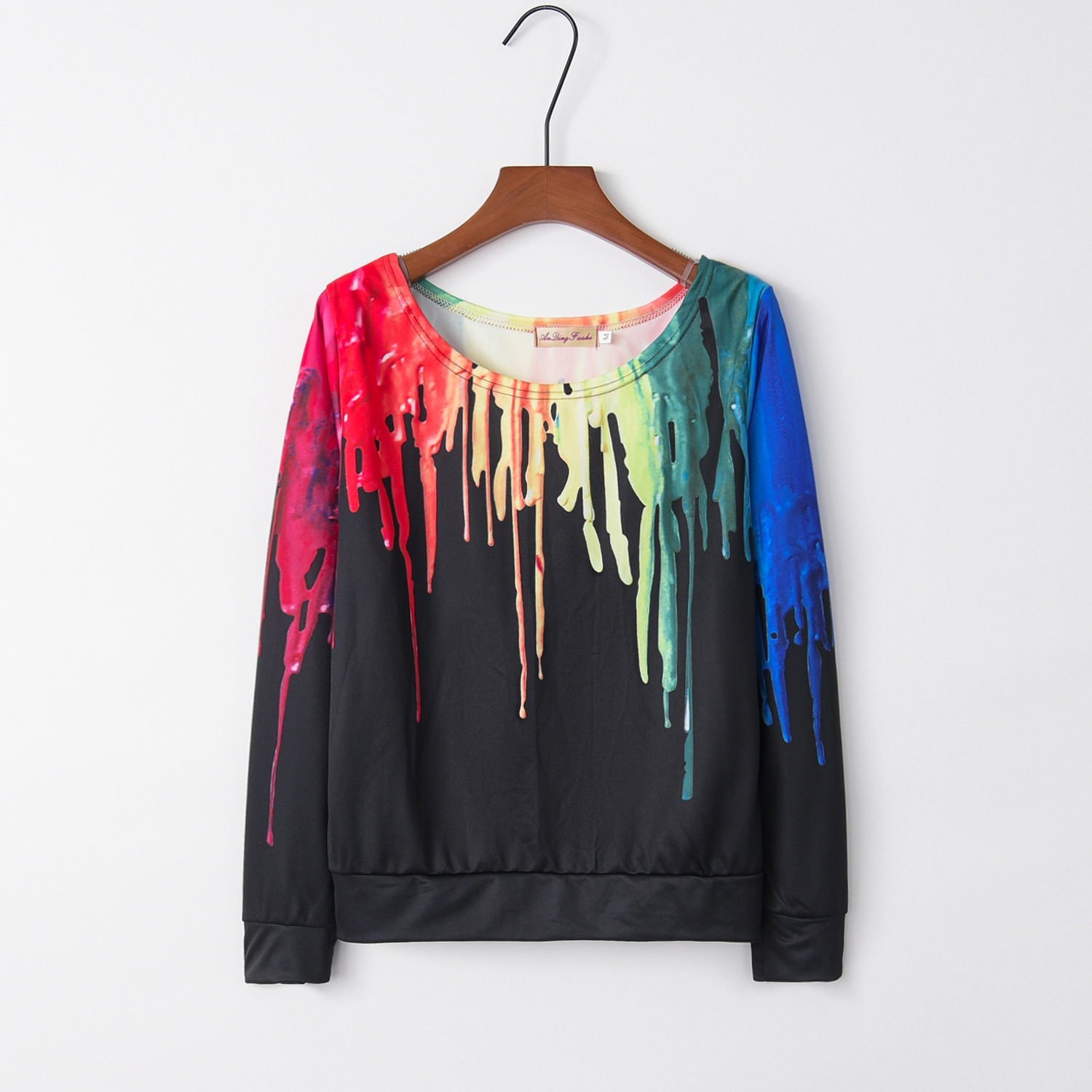 Rainbow Scrawl Dauber 2020 New Design Hot Sale Hoodies Sweatshirts Women Casual Kawaii Harajuku Sweat Girls European Tops Korean