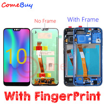 Comebuy Display For Huawei Honor 10 LCD Display+FingerPrint COL L09 COL L29 Touch Screen Honor 10 Display With Frame Replace