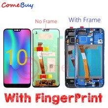 Comebuy ディスプレイ huawei 社の名誉 10 液晶ディスプレイ + 指紋 COL L09 COL L29 タッチスクリーン名誉 10 フレームと交換