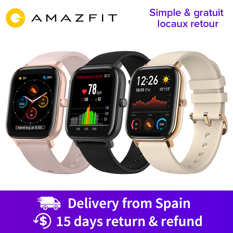 Huami Amazfit GTS Global Version Smart Watch 5ATM Waterproof 14 Days Battery GPS Music Control Like Apple Watch|Smart Watches| | - AliExpress