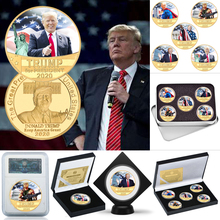 WR Donald Trump 2020 Gold Plated Coin Collectibles with Coin Holder USA President Original Coin Set Gifts for Man Dropshipping