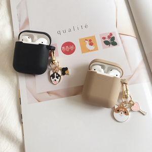 Image 4 - Cute Cartoon Dog Silicone Case for Apple Airpods Cover Case Accessories Bluetooth Earphone Headphones Protective Decor Key Ring