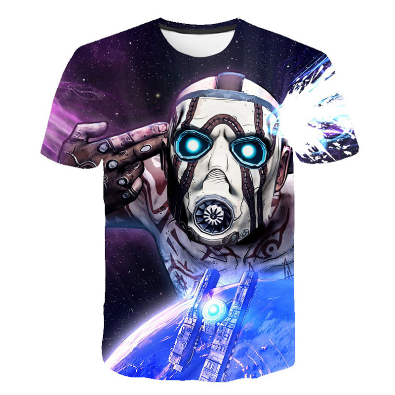 2019 New Arrival <font><b>Borderlands</b></font> 3 Game 3D Fashion Cool Print T Shirt Women Men Popular Funny <font><b>Borderlands</b></font> 3 T-shirt Summer Plus Size image