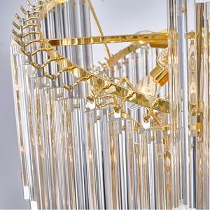 Image 5 - آرت ديكو الحديثة الثريا مصباح لغرفة المعيشة AC110V 220 فولت الذهب تركيبات إضاءة غرفة الطعام