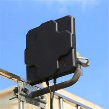 2 * 22dBi في الهواء الطلق 4G LTE MIMO هوائي ، LTE لوحة الاستقطاب المزدوج هوائي SMA ذكر موصل
