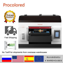 Procolored NEW Upgrade Automatic LED UV Flatbed Printer A3 A4 Print Size For Phone Case Wood Bottle Glass Metal Printing Machine