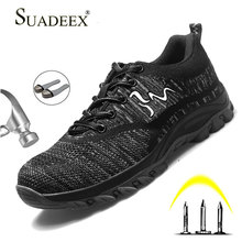 SUADEEX Safety Shoes Work Anti-smashing Construction Working Sneaker Security Steel Toe For Men Women Outdoor Boots