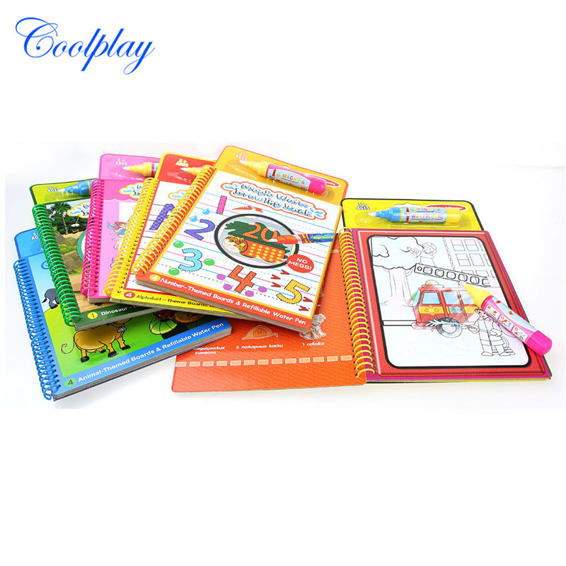 Magic Children Water Drawing Book Baby-Repeated Use Water Graffiti Sketchpad With Small