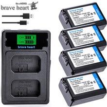 4 шт. 2000 мА/ч, NP-FW50 NP FW50 Батарея+ светодиодный USB двойной Зарядное устройство для sony Alpha a6500 a6300 a7 7R a7R a7R II a7II NEX-3 NEX-3N NEX-5
