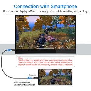"""Image 4 - Eyoyo EM15F 15.6 """"przenośny ekran dotykowy HDMI LCD Monitor gamingowy IPS FHD 1920x1080 HDR typ USB C wyświetlacz na telefon PC Xbox one"""