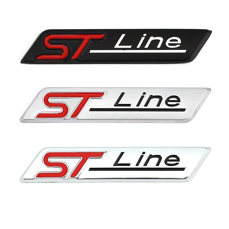 3D Металлическая Автомобильная наклейка ST Line эмблема значок наклейки для Ford F-150 Focus X Vignale ST Line Mondeo Escape EcoBoost 245 330 Explorer