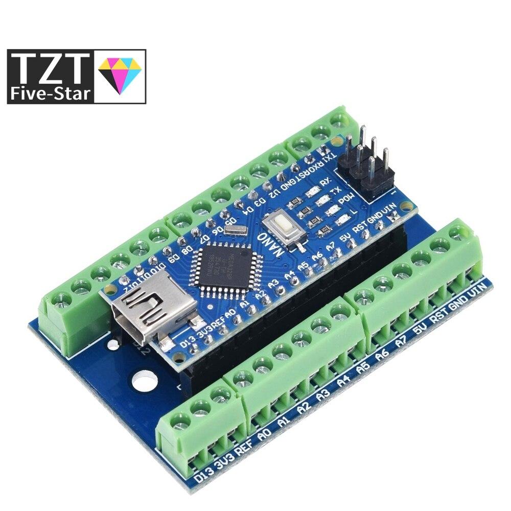 NANO V3.0 контроллер клеммный адаптер плата расширения NANO IO щит простая удлинительная пластина для Arduino AVR ATMEGA328P