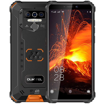 Перейти на Алиэкспресс и купить Смартфон OUKITEL WP5 Pro, 8000 мАч, 4G, IP68, 4 + 64 ГБ, 5,5 дюйма, Android 10